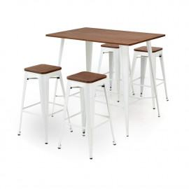 TABLES BLANCHES HAUTES RECTANGULAIRE ANTIK OLD