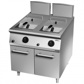 Double gas fryer 32 L