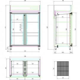 Cooling cabinet patisserie 2 doors