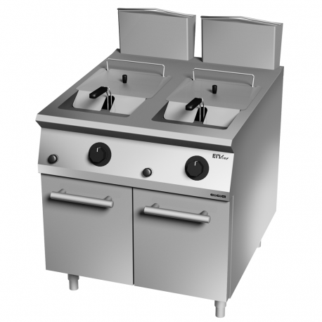 Double gas fryer 44 L