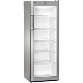 Glass door refrigerator for bottles
