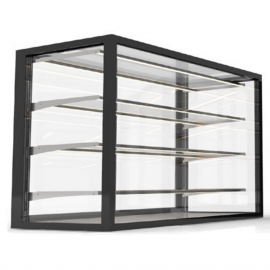 Compact integrated 100 / 120 neutral display case